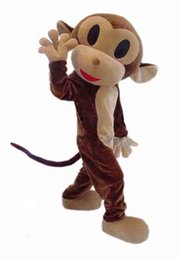 Monkey Halloween Costumes Canada - Halloween Naughty Monkey Mascot Costume Top Quality Adult Size Cartoon happy monkey simian Christmas Carnival Party Costumes