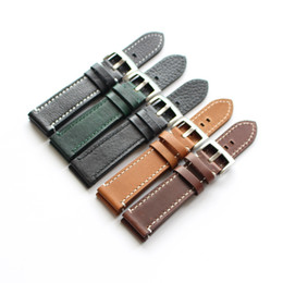cow lining leather UK - HIGH QUALITY HAND MADE LINES VINTAGE GENUINE COW LEATHER STRAP BAND FOR watch bracelet STRAP change repair fix accessory watchmaker