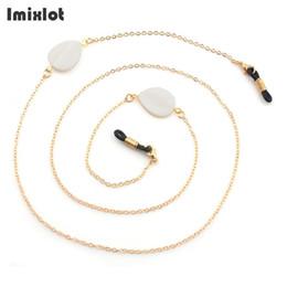 Sunglasses Straps Cords NZ - Fashion Shell Beads Charm Metal Eyeglass Chains Eyewears Sunglasses Reading Glasses Chain Cord Holder Neck Strap Rope