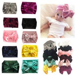 Headbands Bow Australia - 11 Colors Baby Girl Pleuche Big Bow Design Headband fashion soft Bohemia Bow Girl Infant Hair Accessories Headband