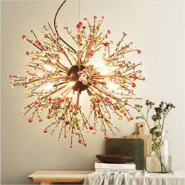 $enCountryForm.capitalKeyWord Australia - Vintage Hanging Lamp LED Modern Crystal Globe Ball Pendant Lights Chandelier Lighting Ceiling Light Fixtures for Resturant Foyer Living Room