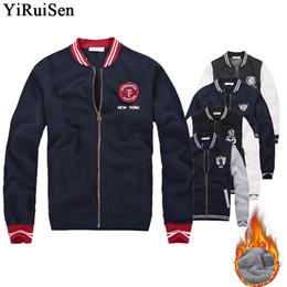 $enCountryForm.capitalKeyWord Australia - Wholesale YiRuiSen Brand Fleece Bomber Jacket Men Fashion Zipper Jackets And Coats Winter Clothing For Men Plus Size S-3XL