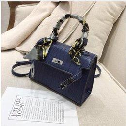 Scarf Square Cotton Australia - Luxury Crocodile Pattern Women Handbag Bag Scarves Bow Small Square Bag Leather Dinner Handbag Travel Bag Clutch