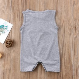 $enCountryForm.capitalKeyWord Australia - EBay Express Amazon Blockbuster Childrens Wear Summer Cotton Sleeveless Printed Alphabetic Haja Clothes for Babies and Young Children