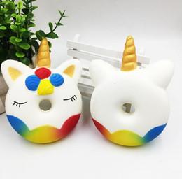 Fidget PU Unicorn Donuts toys Squishy Squishy spongieux rebondissant Simulation Drôle Gadget Vent jouet décompression D0124 en Solde