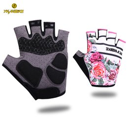 mtb gloves half fingers NZ - YKYWBIKE 2019 Cycling Gloves Women Half Finger Anti-slip Bike Mittens Racing Road Bicycle Gloves MTB Biciclet Guantes Ciclismo Verano