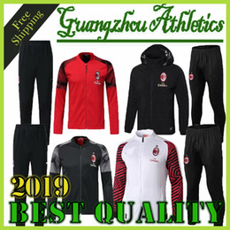 Wholesale Top quality AC Milan adult Soccer training suit survetement AC Milan HIGUAIN CALHANOGLU BONUCCI football TracksuitFree ship