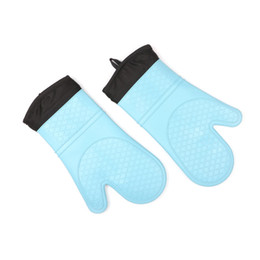 HigH Heat resistant oven mitts online shopping - Cooking BBQ Grill Glove Oven Mitt Baking Glove Food Grade Heat Resistant Silicone Kitchen Barbecue Oven Glove high quality