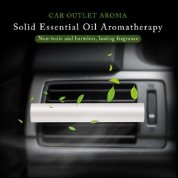 sells cars 2019 - Hot Selling 1PC Car Vent Air Freshener Perfume Replacement Supplement Solid Stick Car Accessories Styling Clip cheap sel
