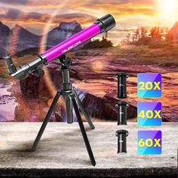 venda por atacado 3 ocular do telescópio Professional Astronomical com tripé Monocular Zoom Telescope Spotting Scope para as crianças Brinquedos Educativos