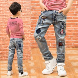 60dc2563c04a Children s Clothing Boys Jeans 2019 Autumn New Children s Pants Big Boys  Trousers Stretch Jeans Fashion
