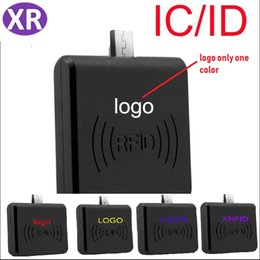 Smart Card Printing Australia - 100sets Portable 125Khz RFID Card Reader EM4100 USB Smart Access Control Card Reader Plug and Play TK4100 EM ID Reader Accpet Printing Logo