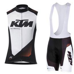 $enCountryForm.capitalKeyWord Australia - Tour de France New 2019 KTM Cycling sleeveless Sleeves bib shorts sets Road Ride Bike Wear kit Cycling Clothing Sportswear Ciclismo Hombre