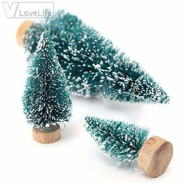 white christmas decor NZ - 5Pcs 12.5cm DIY Mini White New Year's Christmas Tree arbol de navidad Christmas Decorations For Home Village House Decor