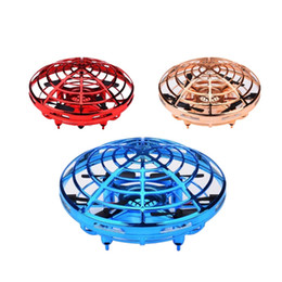 Toy Frisbee Australia - Mini 4-axis LED Suspension induction aircraft Hand Flying UFO Ball 360 Degrees Rotatable Multiplayer Interactive Entertainment Kids Toy Gift