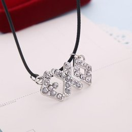"$enCountryForm.capitalKeyWord Australia - Wholesale- Creative combination of letters ""EXO"" pendant, shining zirconia necklace, fashionable for men and women, free shipping"