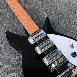 Clear eleCtriC guitar online shopping - mm full size neck Ricken Electric guitar Rosewood fingerboard with clear paint finish Real photos