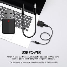 $enCountryForm.capitalKeyWord Australia - USB 3.5mm jack V5.0 Bluetooth Receiver Transmitters adapter Audio Music Stereo Dongle for TV PC Bluetooth 5.0 Speaker Headphong car