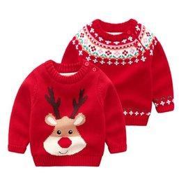 Top Kids Christmas Gifts Australia - Kids Fashion Christmas Sweater Cute Warm Cartoon Winter Top Kids Best Gift
