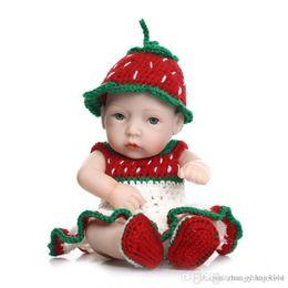 $enCountryForm.capitalKeyWord Australia - 25cm Full silicone reborn baby fashion dolls toy for kids newborn girls babies birthday Chirldren's Day gift bath shower toy