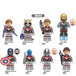 Building Figures Australia - Building Blocks Super Hereos Avengers 4 Black Widow Gift Rocket Raccoon Thor Model Bricks Action Figures Toys For Children X0233