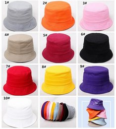 $enCountryForm.capitalKeyWord Australia - 200pcs Children Plain Bucket Hat Kids Blank Fishing Hats Boy Girl Fisherman Cap Custom Logo Color Baby Beach Sun Visor Gift J165