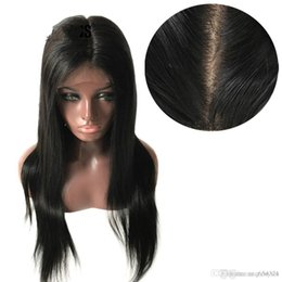 $enCountryForm.capitalKeyWord NZ - Silk Base Full Lace Hair Wigs with Pre Plucked Straight Brazilian Remy Hair Natural Color Free Part+wig Net