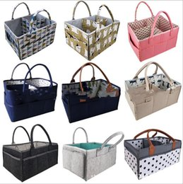 Organizer stOrage cOntainers online shopping - Felt Nappy Storage Bag Felt Basket Diaper Bags Mommy Handbags Baby Nursery Wipes Tote Travel Organizer Newborn Car Portable Container B6893