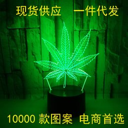 $enCountryForm.capitalKeyWord Australia - Leaf 3d Lamp Nine Piece Green Leaf 3d Colorful Touch Remote Control Small Desk Lamp Hempleaf Leaf 3d Small Night-light