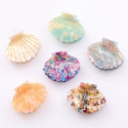 girls hair claw clips Australia - 2019 New Fashion Simple Women Girls Sea Shell Hair Clip Claw Acetate Resin Grips Hairpin Accessories Party Gifts