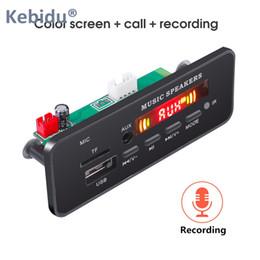bluetooth recording 2019 - Bluetooth 5.0 MP3 WMA Decoder Board Module DC 5V 12V USB SD TF AUX FM Call Recording Audio 2*3W For Car DIY discount blu