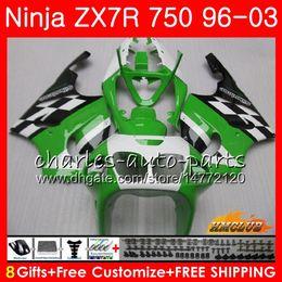 KawasaKi zx7r fairing blacK white online shopping - Bodys For KAWASAKI NINJA ZX R ZX ZX750 ZX R ZX HC ZX R stock green hot ZX7R Fairing