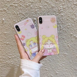 $enCountryForm.capitalKeyWord Australia - Mesh Net Hollowed Out Breathable Kickstand Holder Lucky Cat Blue Pink Elephant Cellphone Case For Iphone XS MAX XR XS 7 8 Plus Bluefactory