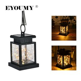 Starry String Lights Wholesale Australia - Eyoumy Solar Powered String Lantern 30 LED Copper Wire Lights Starry Light Waterproof For Gardens Warm White(Yellow) DHL Free Shipping