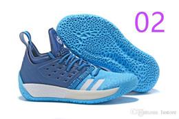 Venta al por mayor de NUEVA venta Envío gratis James Harden Vol 2 zapatos de baloncesto negro azul blanco gris para hombre endurecer vol.2 zapatillas TAMAÑO US7-11.5 FENSKY