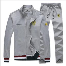 $enCountryForm.capitalKeyWord Australia - 2019 brand sporting suit men warm hooded tracksuit track polo men's sweat suits set letter print large size sweatsuit male