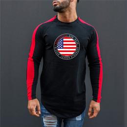 $enCountryForm.capitalKeyWord NZ - New Brand Men's Running T shirt Patchwork Fitness Gym Long Sleeve Shirt Men Sports Training T Bodybuilding Tops Rashgard