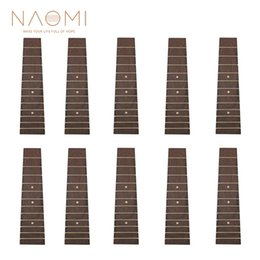 ukulele accessories NZ - NAOMI 10 PCS Ukulele Fingerboard For 21 Inch Soprano Ukulele 4 String Guitar Rosewood Fretboard Ukulele Parts Accessories New