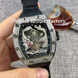 $enCountryForm.capitalKeyWord Canada - Top Luxury 57-01 Watch Automatic Sapphire Stainless Steel Diamond Case Longfeng totem Dial Rubber Strap transparent case back Mens Watch