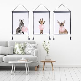 Scroll Paintings Australia - Decor Wall Scroll Hanging Tapestry Fashion blow bubbles Hanging Painting,Sofa Background Hanging Cloth,Corridor,Porch,Electric Meter Box