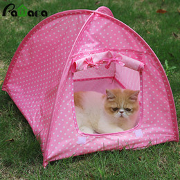 Cute Small Dog Houses Australia - Portable Foldable Cute Dogs Pet Tent Playpen Outdoor Indoor For Kitten Cat Small Dog Puppy Kennel Tents Cats Nest Toy House