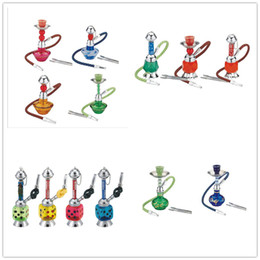 acrylic water glasses Australia - Newest Mini Hookah Set Acrylic Bongs Shisha Narguile Plastic Smoking Water Pipes With hose Glass Bongs Oil Rig 5 Styles Choose