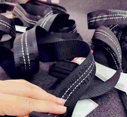 Wholesale 18ss new fashionable high quality black belt designer brand men s leisure multi colored ow belt men and women