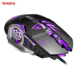 Wired 6d gaming mouse online shopping - USB Wired Gaming Mouse Gamer D Mechanical Design LED Optical Computer Laptop Mouse Game Mice for PC Desktops for LOL Dota