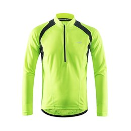 cycling clothing for men Canada - Wholesale spring autumn Long Sleeve cycling jersey for men Road bike cycling wear Ropa Ciclismo long sleeve running clothing