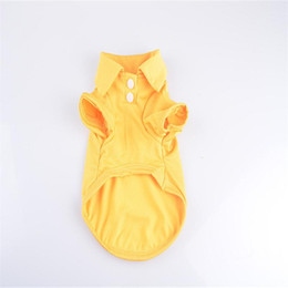 $enCountryForm.capitalKeyWord NZ - SF Fashion Dog Polo Shirts For Spring Summer Colorful Pet Clothes Poromeric Material For Small Baby Pet Easy Washing Factory Price