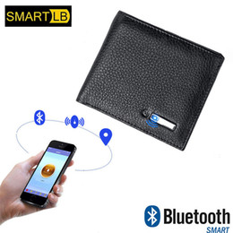 Android Wallet Australia - Smart Wallet Men Genuine Leather High Quality Anti Lost Intelligent Bluetooth Purse Male Card Holders Suit For Ios, Android