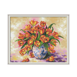 pictures tulip paintings Australia - Colorful Tulips 5D DIY Diamond Painting Full Square Rhinestone Pictures Cross Stitch Diamond Embroidery Icons Mosaic Home Decor