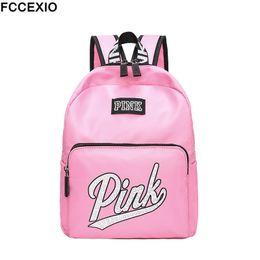 $enCountryForm.capitalKeyWord NZ - Fccexio 2019 New Backpack Women Leisure Back Pack Pink Backpack Travel Softback School Bag School Backpack For Girls Bagpack Set Y19051701