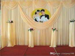 6m veils NZ - Wedding swags drapes Party Background party Celebration Background Satin Curtain Drape Ceiling Backdrop Marriage decoration Veil 3*6m (10ft